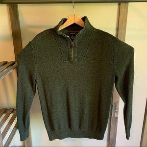 Calvin Klein Forest Green Wool ZIP Up Sweater